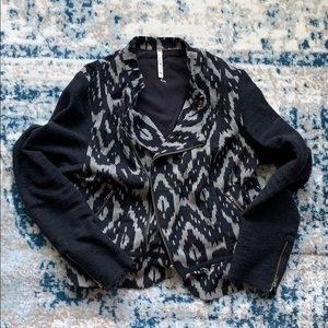 Willow & Clay Knit Moto Jacket